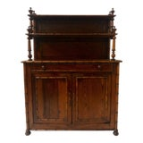 Image of French Faux Bamboo Pine Cabinet For Sale