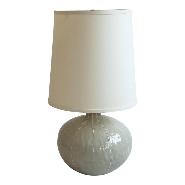 Modern kRI kRI Studio Gray Ceramic Gourd Lamp For Sale