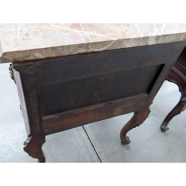 Early 20th Century Louis XV Style Marble Top End Tables For Sale - Image 5 of 10