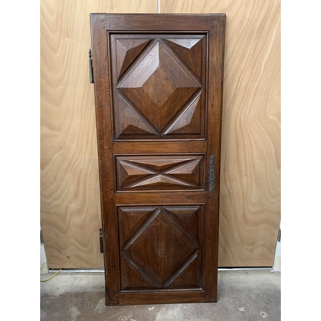 Late 18th C Antique French Oak Armoire Doors - a Pair For Sale - Image 4 of 13