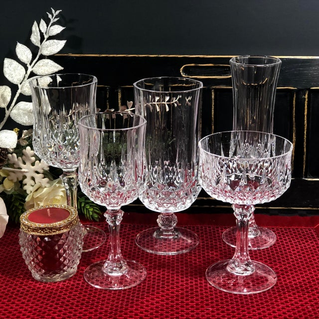 Early 21st Century Cristal d'Arques Durand Longchamp 5 Pc. Place Setting - 6 Sets / 30 Total Pieces For Sale - Image 5 of 10