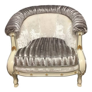 """100% Made in Italy by Caspani Tino Part of the """"Tre Paradise"""" Sitting Collection , Armchair For Sale"""