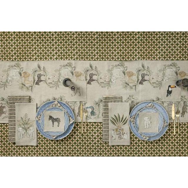 Linen 2010s French Ecru Linen Safari Table Runner For Sale - Image 7 of 8