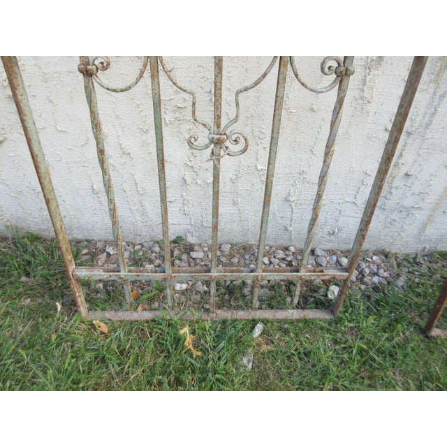 Antique Victorian Iron Gate or Garden Fence For Sale - Image 5 of 6
