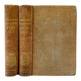 History of the Conquest of Peru by William H. Prescott 1847 - a Pair For Sale
