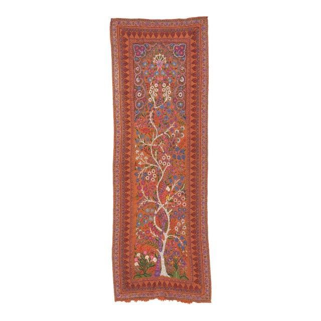 "19th Century Kerman ""Termeh"" Embroidery Textile Art For Sale"