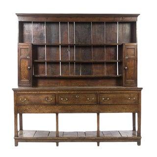 18th Century English Oak Welsh Dresser For Sale