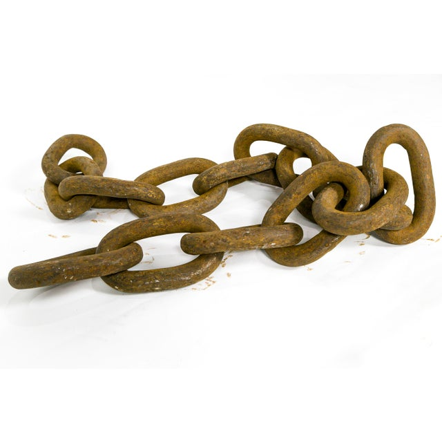 Gigantic Sculptural Antique Iron Chain For Sale - Image 9 of 9