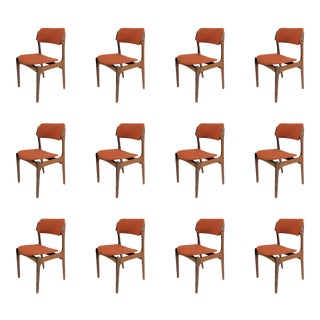 Mid Century Modern Erik Buch Danish Rosewood Dining Chairs- Set of 12 For Sale