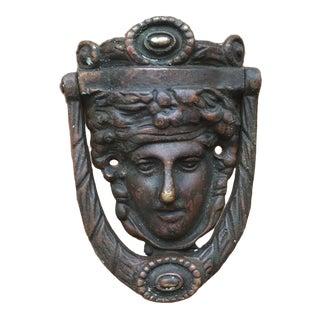 Late 19th Century Vintage Greek God Door Knocker For Sale