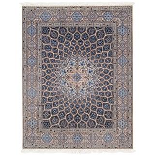 "Pasargad Vintage Persian Nain Silk & Wool Rug - 6'9"" X 8'8"" For Sale"