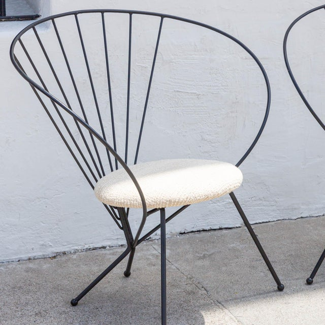 1953 Robert Kasindorf Iron Hoop Chairs - a Pair For Sale - Image 4 of 9