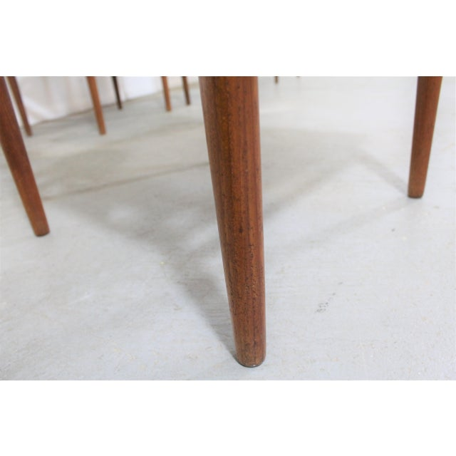 Wood Set of 4 Mid-Century Modern Folke Ohlsson Style Teak Dining Chairs For Sale - Image 7 of 13