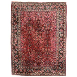 "RugsinDallas Persian Mashad Rug - 10'2"" X 13'4"" For Sale"