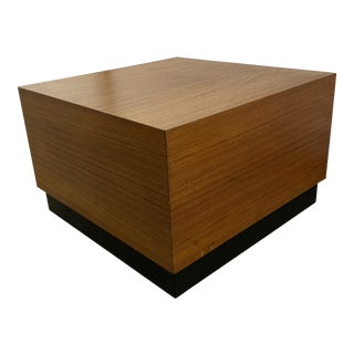Vintage Mid-Century Modern Cube Side Table For Sale