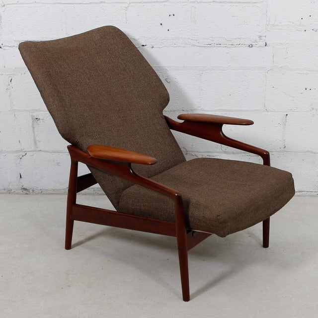 Finn Juhl Reclining Wingback Chair For Sale - Image 4 of 10
