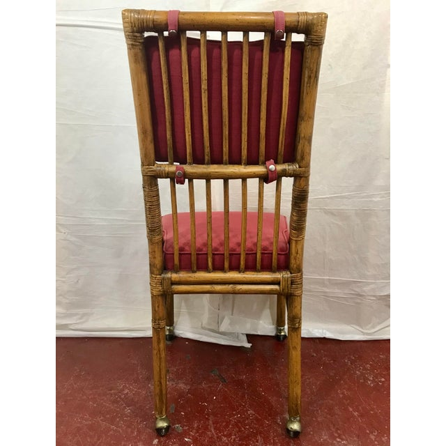 Bamboo Dining Chairs Set of 8 For Sale - Image 10 of 13