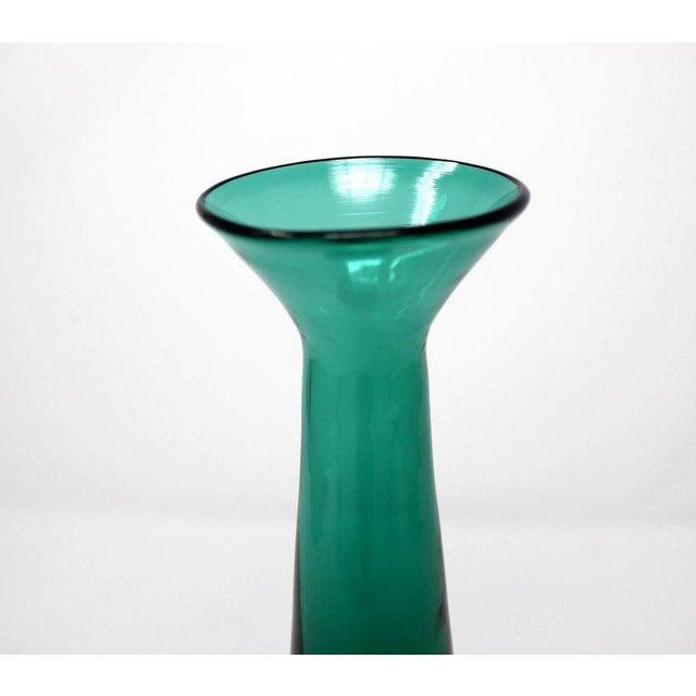 1960s Blenko Green Art Glass Vase Chairish