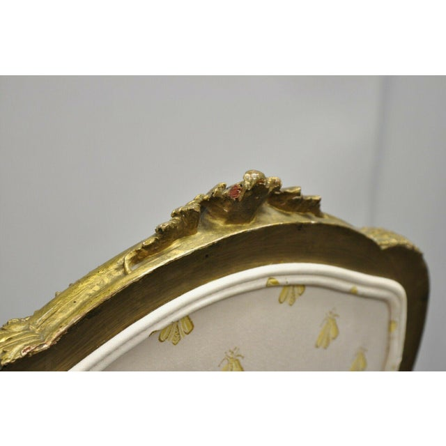 Wood 19th Century French Louis XV Style Gold Gilt Wood Parlor Salon Suite - 3 Pieces For Sale - Image 7 of 13