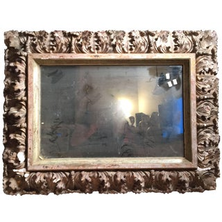 Italian Baroque Gilt Frame Mirror For Sale