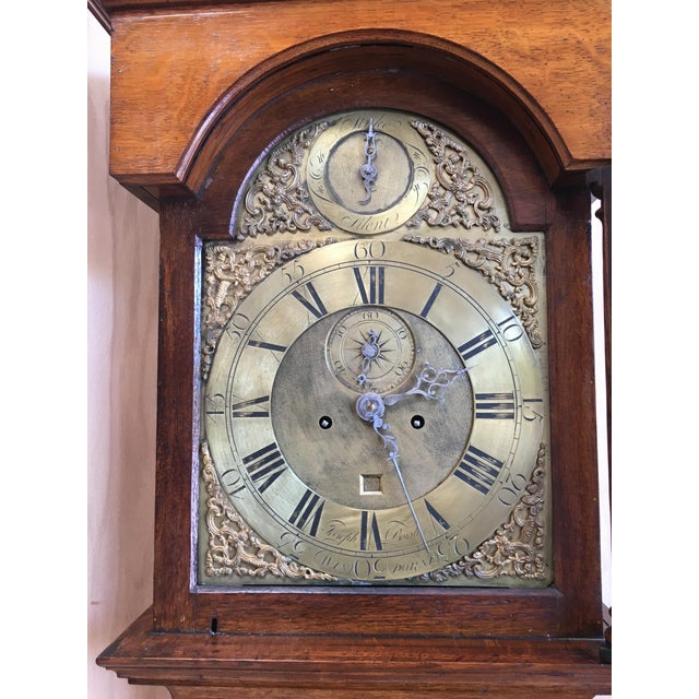 Mid 18th Century 18th Century Longcase 8 Day Time & Strike Clock For Sale - Image 5 of 13