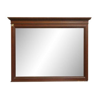 Traditional Mahogany Over Mantel Mirror For Sale