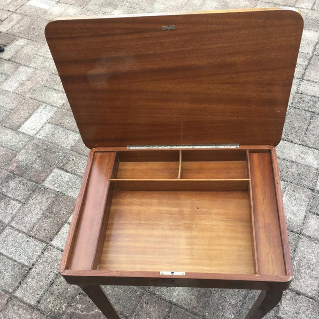 Vintage Italian Inlaid Table Swiss Movement Musical - Image 5 of 5