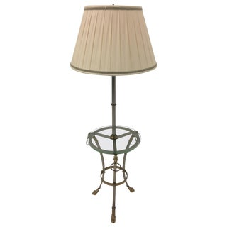 Elegant Maison Jansen Style Floor Lamp With Hoof Feet and Rams Heads For Sale