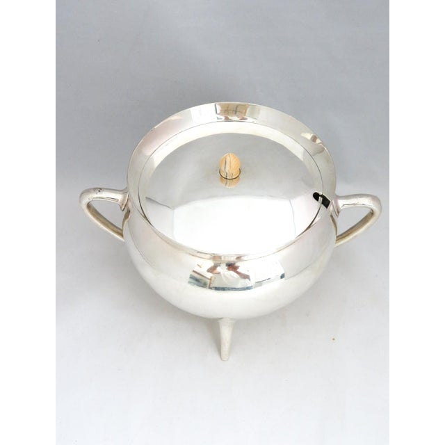 Rare, Unusual Walker & Hall, Sheffield UK, Cauldron Shaped Mid-Century Soup Tureen. Great Conversation piece.