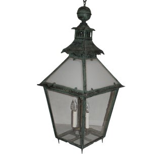 Antique,English Style Pagoda Top Exterior Pendant Lanterns For Sale