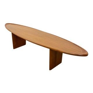1950s Robs John Gibbings Surfboard Coffee Table For Sale