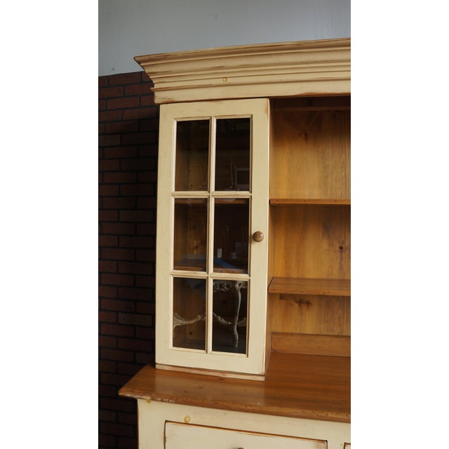 Cottage 20th Century Cottage Farmhouse China Hutch For Sale - Image 3 of 11