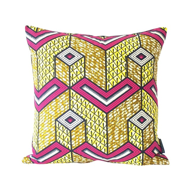 Lubumbashi Wax Print Square Pillow - Image 1 of 4