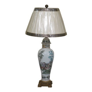 Chelsea House Chinoiserie Decorated Porcelain Table Lamp For Sale