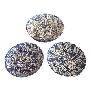 Vintage Italian Splatterware Glazed Bowls - Set of 3 For Sale