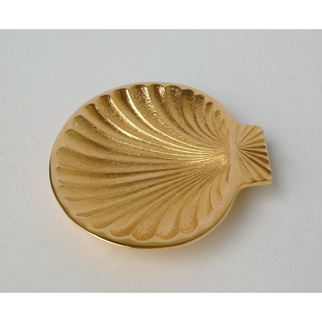 Gold Plated Fanned Shell-Shape Ring Dish - Image 6 of 11