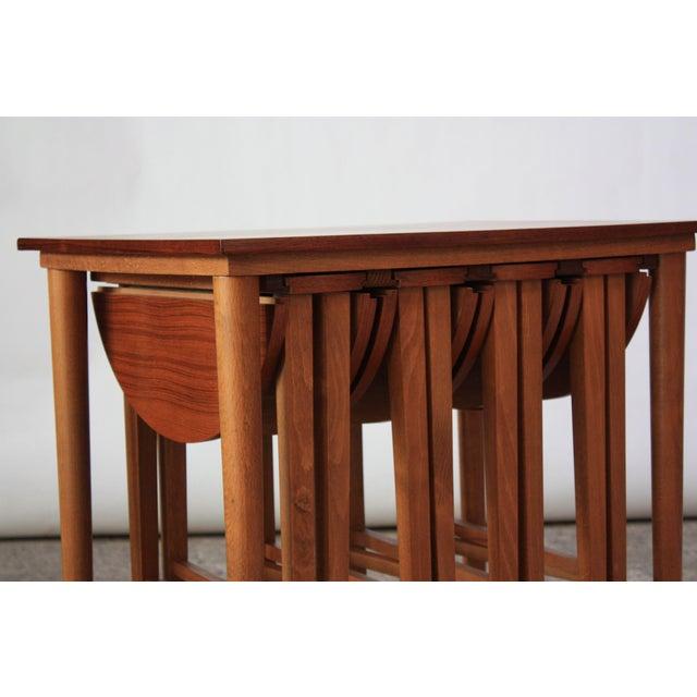 1960s Set of Teak Serving Tables after Bertha Schaefer For Sale - Image 5 of 10