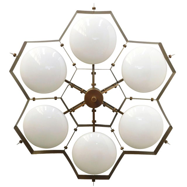 Beehive Flush Mount by Fabio Ltd For Sale
