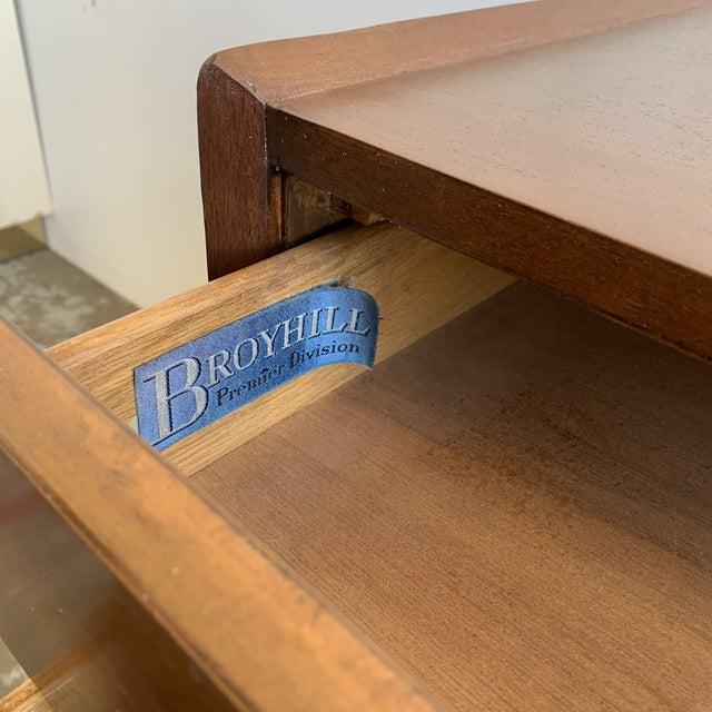 Broyhill Mid Century Walnut Dresser by Broyhill For Sale - Image 4 of 13