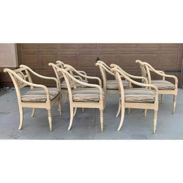 Vintage Baker Furniture Milling Road French Country Dining Table and Six Chairs - Set of 7 For Sale In Phoenix - Image 6 of 11