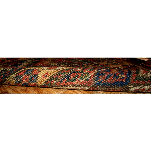 1880s Antique Persian Kurdish Bag Face - 2' x 2' For Sale - Image 5 of 5
