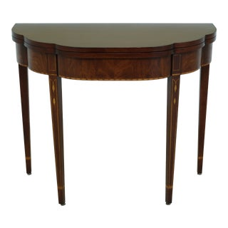 Henkel Harris Federal Style Inlaid Mahogany Games Table For Sale