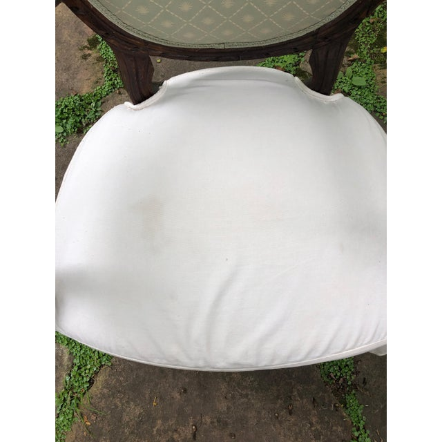 Carved Walnut and Upholstered French Armchair Bergere For Sale - Image 10 of 13