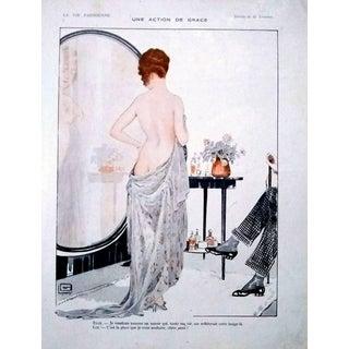 """G. Leonnec 1926 """"Une Action De Grace"""" La Vie Parisienne Print For Sale"""