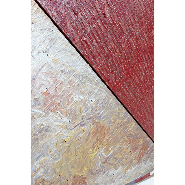 1980s Contemporary Large Abstract Painting on Canvas by Naomi Waksberg For Sale In Detroit - Image 6 of 9