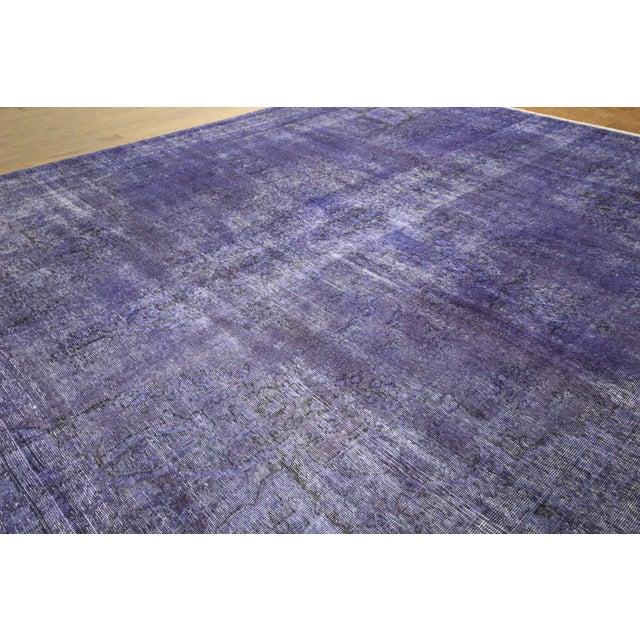 "Purple Overdyed Oriental Rug - 10' 1"" x 12' 1"" - Image 4 of 10"