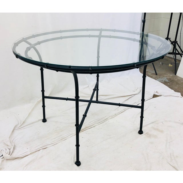 Vintage Faux Bamboo Style Table For Sale - Image 13 of 13