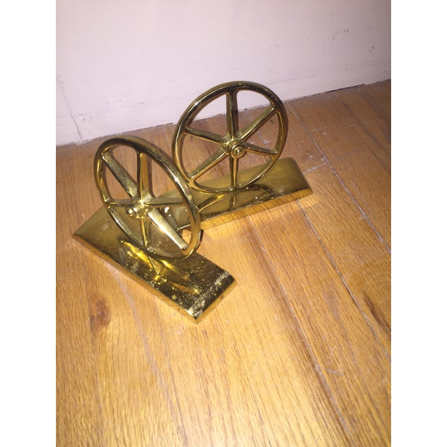Mid-Century Brass Bookends - Image 3 of 4