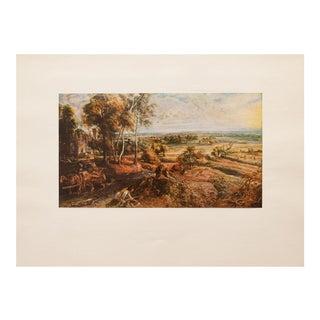 1950s Rubens, Landscape With Castle Steen Vintage Lithograph For Sale