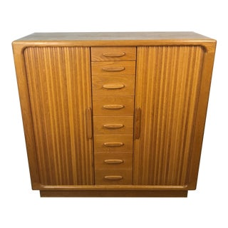 Danish Mid Century Gentleman's Dresser For Sale